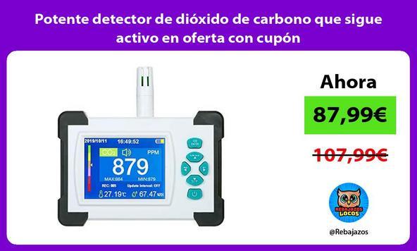 Potente detector de dióxido de carbono que sigue activo en oferta con cupón