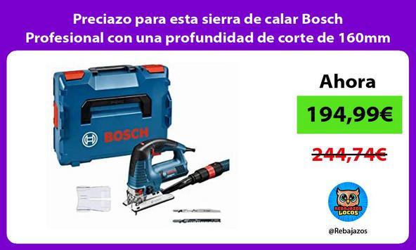 Preciazo para esta sierra de calar Bosch Profesional con una profundidad de corte de 160mm