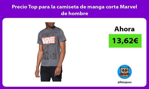Precio Top para la camiseta de manga corta Marvel de hombre