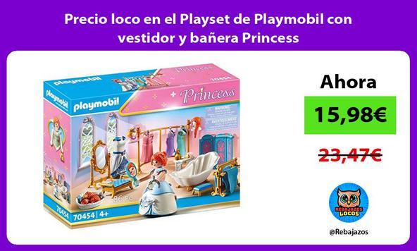 Precio loco en el Playset de Playmobil con vestidor y bañera Princess