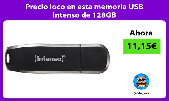 Precio loco en esta memoria USB Intenso de 128GB
