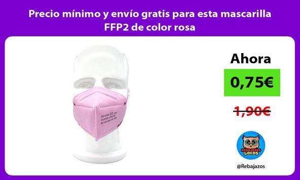 Precio mínimo y envío gratis para esta mascarilla FFP2 de color rosa