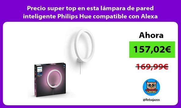 Precio super top en esta lámpara de pared inteligente Philips Hue compatible con Alexa
