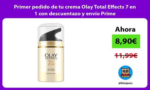 Primer pedido de tu crema Olay Total Effects 7 en 1 con descuentazo y envío Prime