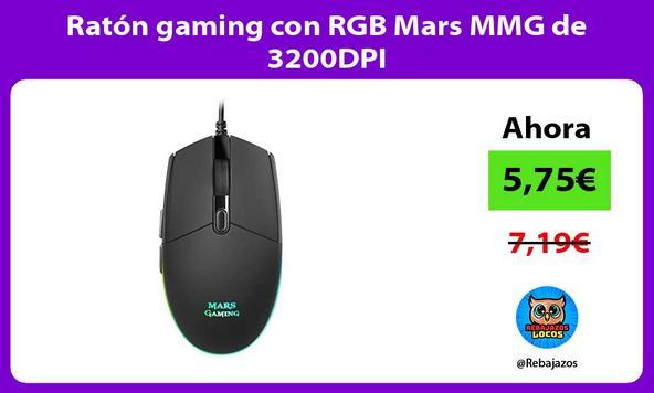Ratón gaming con RGB Mars MMG de 3200DPI