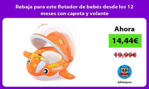 Rebaja para este flotador de bebés desde los 12 meses con capota y volante