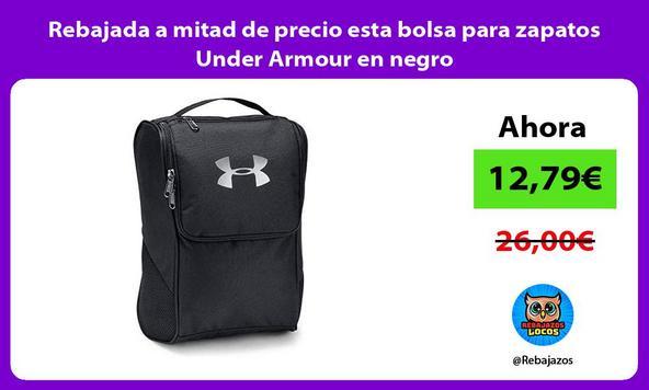 Rebajada a mitad de precio esta bolsa para zapatos Under Armour en negro
