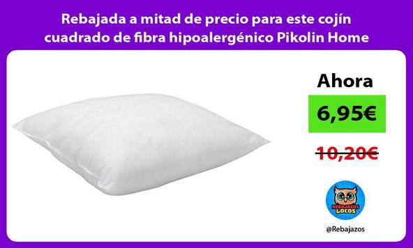 Rebajada a mitad de precio para este cojín cuadrado de fibra hipoalergénico Pikolin Home
