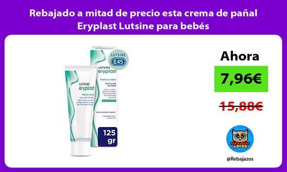Rebajado a mitad de precio esta crema de pañal Eryplast Lutsine para bebés