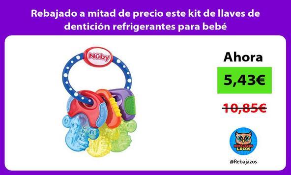 Rebajado a mitad de precio este kit de llaves de dentición refrigerantes para bebé