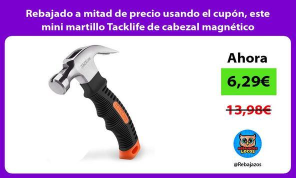 Rebajado a mitad de precio usando el cupón, este mini martillo Tacklife de cabezal magnético