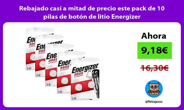 Rebajado casi a mitad de precio este pack de 10 pilas de botón de litio Energizer
