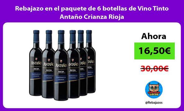 Rebajazo en el paquete de 6 botellas de Vino Tinto Antaño Crianza Rioja
