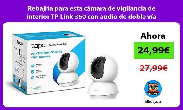 Rebajita para esta cámara de vigilancia de interior TP Link 360 con audio de doble vía