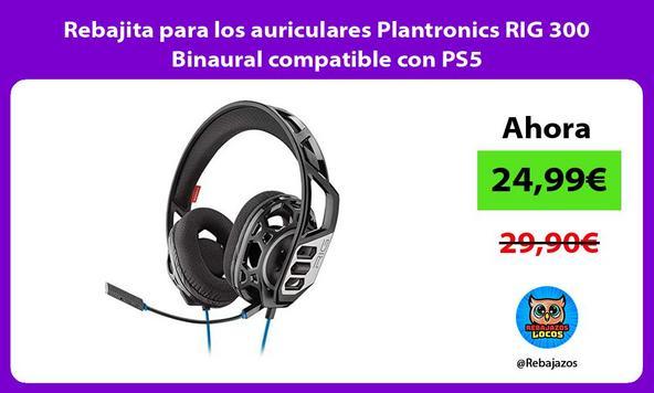 Rebajita para los auriculares Plantronics RIG 300 Binaural compatible con PS5