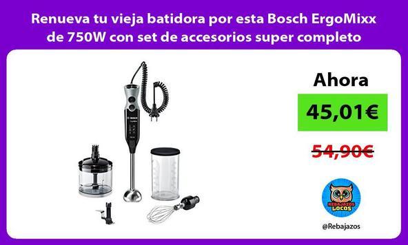 Renueva tu vieja batidora por esta Bosch ErgoMixx de 750W con set de accesorios super completo