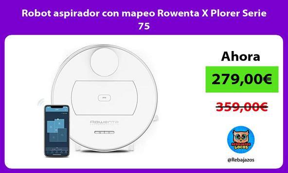 Robot aspirador con mapeo Rowenta X Plorer Serie 75