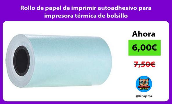 Rollo de papel de imprimir autoadhesivo para impresora térmica de bolsillo