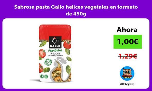 Sabrosa pasta Gallo helices vegetales en formato de 450g