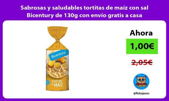 Sabrosas y saludables tortitas de maíz con sal Bicentury de 130g con envío gratis a casa