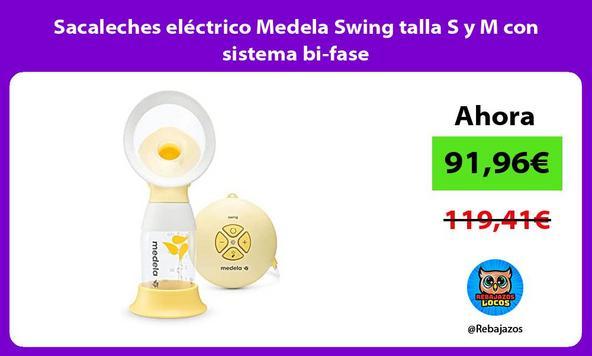 Sacaleches eléctrico Medela Swing talla S y M con sistema bi-fase