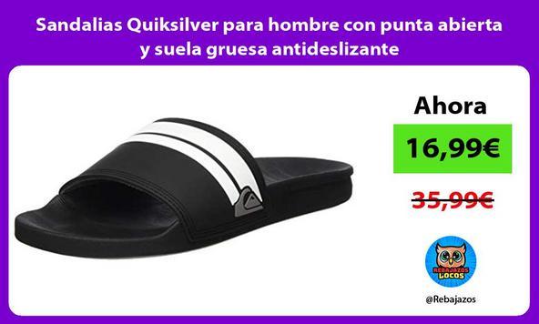 Sandalias Quiksilver para hombre con punta abierta y suela gruesa antideslizante