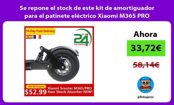 Se repone el stock de este kit de amortiguador para el patinete eléctrico Xiaomi M365 PRO