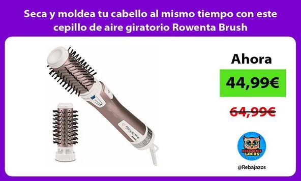 Seca y moldea tu cabello al mismo tiempo con este cepillo de aire giratorio Rowenta Brush