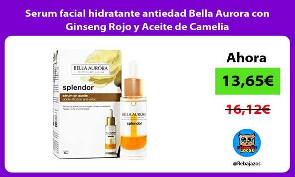 Serum facial hidratante antiedad Bella Aurora con Ginseng Rojo y Aceite de Camelia