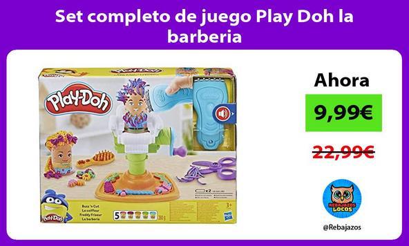 Set completo de juego Play Doh la barberia