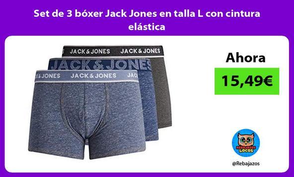 Set de 3 bóxer Jack Jones en talla L con cintura elástica