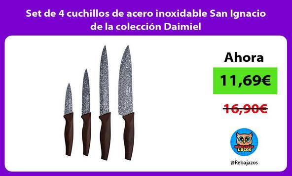 Set de 4 cuchillos de acero inoxidable San Ignacio de la colección Daimiel