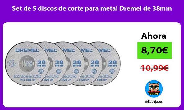 Set de 5 discos de corte para metal Dremel de 38mm