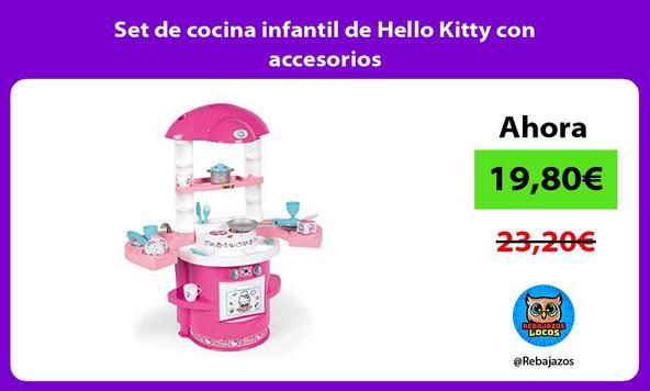 Set de cocina infantil de Hello Kitty con accesorios