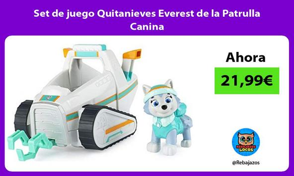 Set de juego Quitanieves Everest de la Patrulla Canina