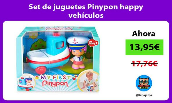 Set de juguetes Pinypon happy vehículos