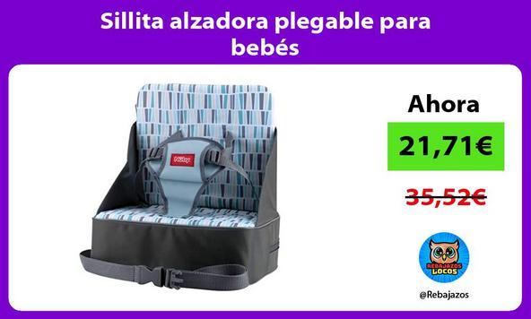 Sillita alzadora plegable para bebés