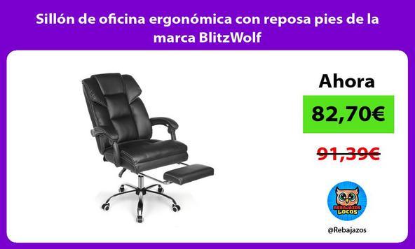 Sillón de oficina ergonómica con reposa pies de la marca BlitzWolf