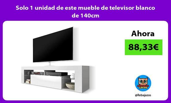Solo 1 unidad de este mueble de televisor blanco de 140cm