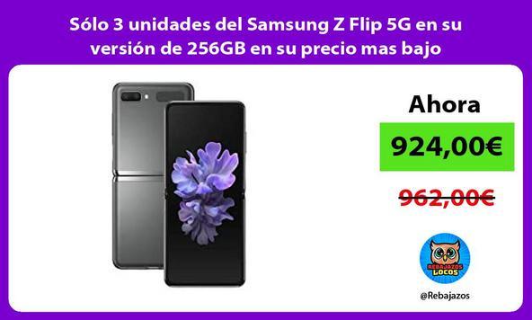 Sólo 3 unidades del Samsung Z Flip 5G en su versión de 256GB en su precio mas bajo