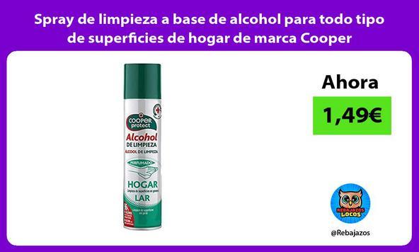 Spray de limpieza a base de alcohol para todo tipo de superficies de hogar de marca Cooper