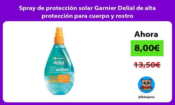 Spray de protección solar Garnier Delial de alta protección para cuerpo y rostro