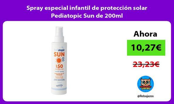 Spray especial infantil de protección solar Pediatopic Sun de 200ml