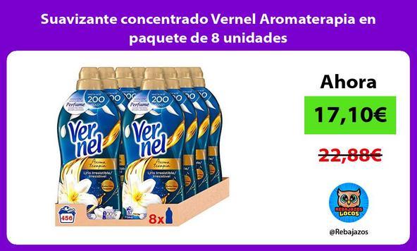 Suavizante concentrado Vernel Aromaterapia en paquete de 8 unidades