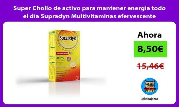 Super Chollo de activo para mantener energía todo el día Supradyn Multivitaminas efervescente