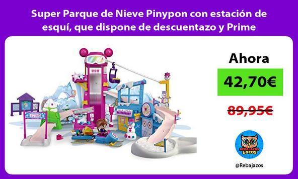 Super Parque de Nieve Pinypon con estación de esquí, que dispone de descuentazo y Prime