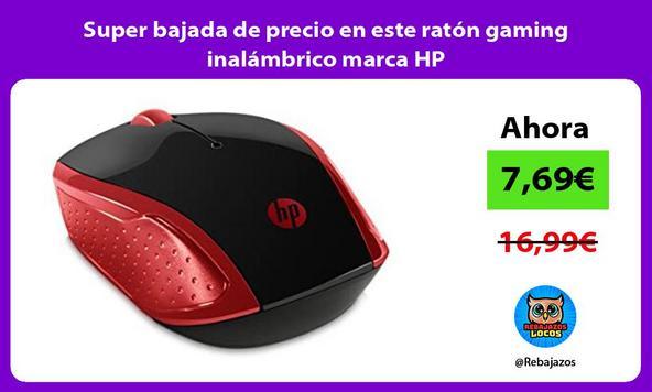 Super bajada de precio en este ratón gaming inalámbrico marca HP