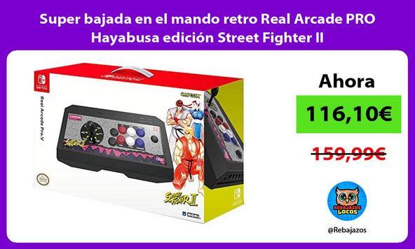 Super bajada en el mando retro Real Arcade PRO Hayabusa edición Street Fighter II