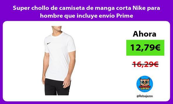 Super chollo de camiseta de manga corta Nike para hombre que incluye envío Prime