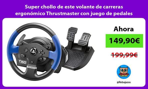 Super chollo de este volante de carreras ergonómico Thrustmaster con juego de pedales
